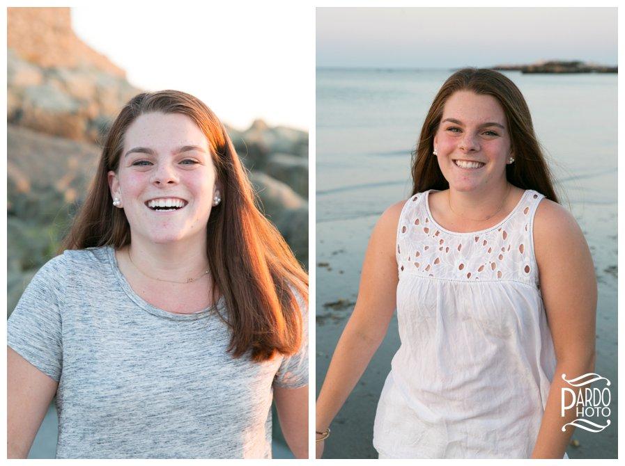 Sandy Beach Cohasset Senior Portraits Pardo Photo
