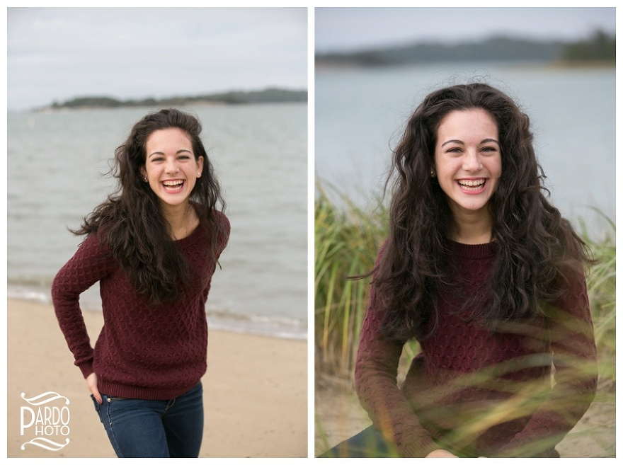 Collette Hingham Beach MA Senior Portrait Session Photographer Pardo Phototography